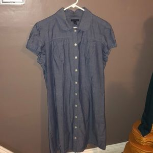 Tommy Hilfiger Short Sleeve Denim look Dress XL